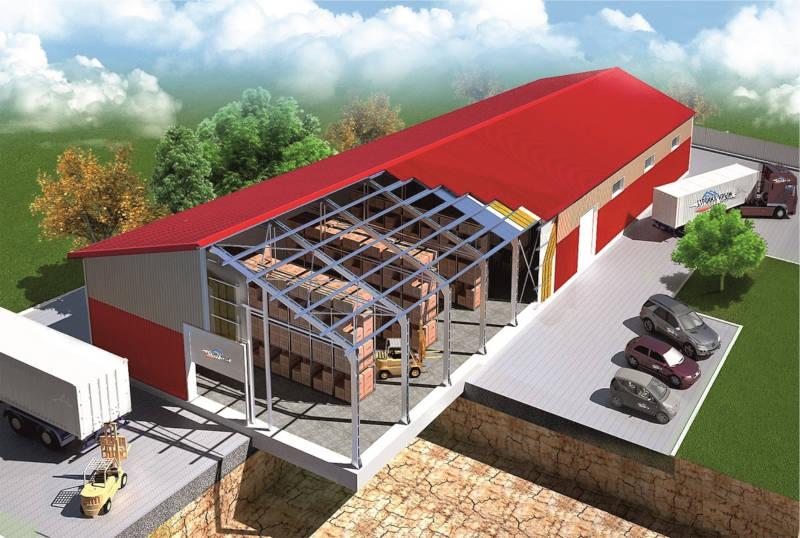 Проект здания из металлоконструкции